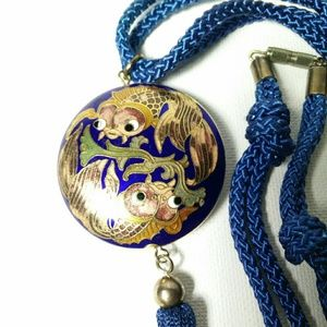 Jewelry - CLOISONNE Koi Fish Tassel Rope Necklace Talisman